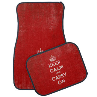 Vintage Keep Calm and Carry On Car Mat