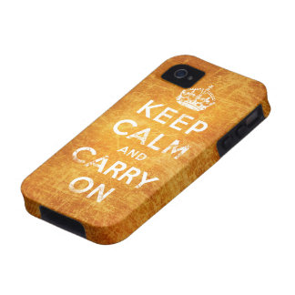 Vintage keep calm and carry on vibe iPhone 4 case