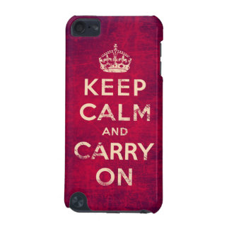 Vintage keep calm and carry on iPod touch (5th generation) case