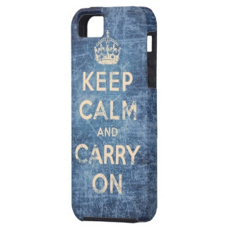 Vintage keep calm and carry on iPhone 5 cases