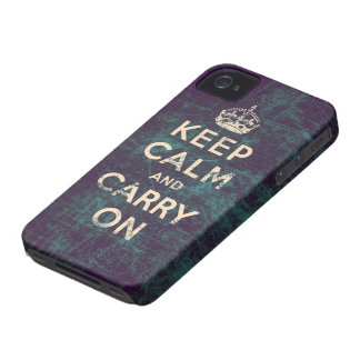 Vintage keep calm and carry on blackberry cases