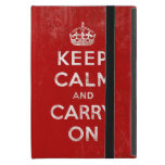 Vintage Keep Calm and Carry On Cover For iPad Mini