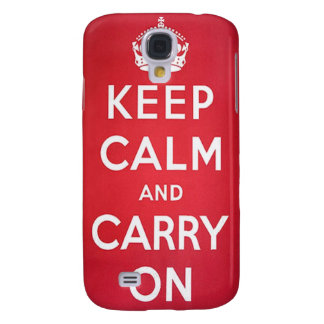 Vintage Keep Calm and Carry On Galaxy S4 Cover