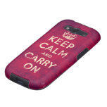 Vintage keep calm and carry on galaxy SIII case
