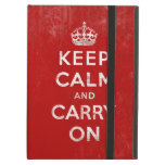 Vintage Keep Calm and Carry On iPad Case