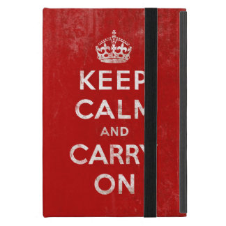 Vintage Keep Calm and Carry On iPad Mini Case