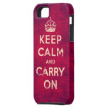 Vintage keep calm and carry on iPhone 5 case