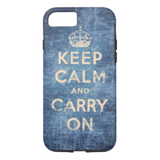 Vintage keep calm and carry on iPhone 7 case