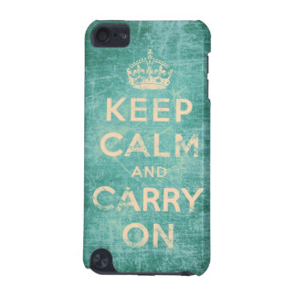 Vintage keep calm and carry on iPod touch (5th generation) cover