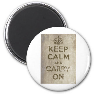 Vintage Keep Calm And Carry On Magnet