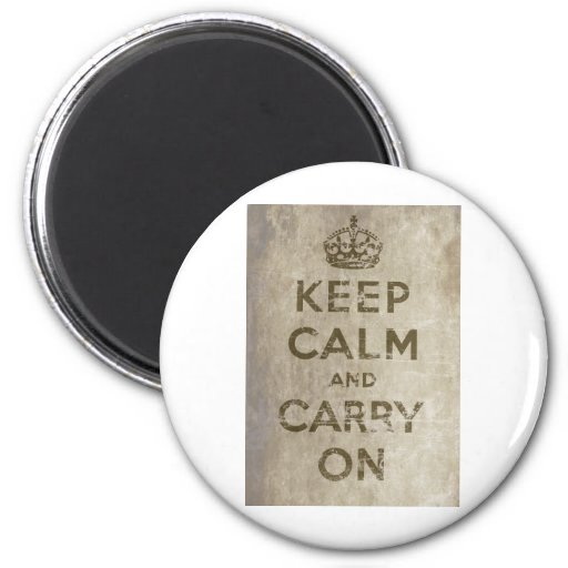 Vintage Keep Calm And Carry On Fridge Magnets