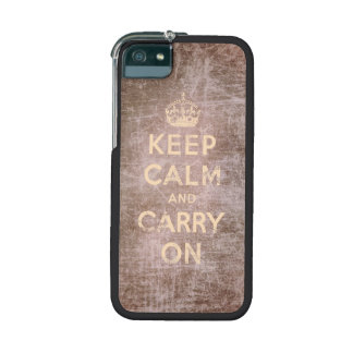 Vintage keep calm and carry on - Pink iPhone 5/5S Cover
