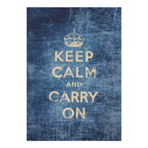 Vintage keep calm and carry on posters