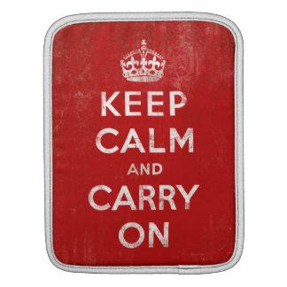 Vintage Keep Calm and Carry On Tablet iPad Case iPad Sleeves