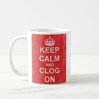 Vintage Keep Calm and Clog On Classic White Coffee Mug