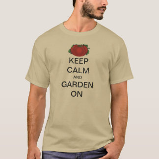 Vintage Keep Calm and Garden On Tomato T-Shirt