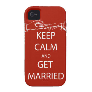Vintage KEEP CALM  GET MARRIED iPhone 4 Cover