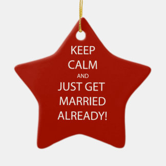 Vintage KEEP CALM  GET MARRIED Ceramic Ornament