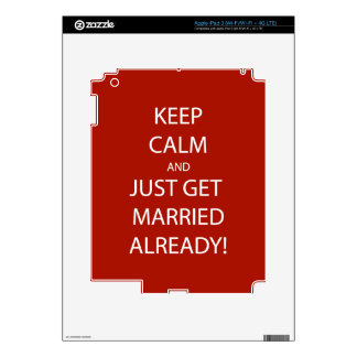 Vintage KEEP CALM  GET MARRIED Decal For iPad 3