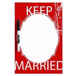 Vintage KEEP CALM  GET MARRIED Dry Erase Board