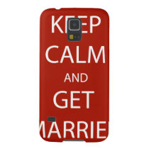 Vintage KEEP CALM  GET MARRIED Galaxy S5 Cover