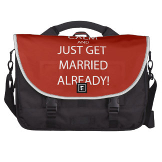 Vintage KEEP CALM  GET MARRIED Laptop Bag