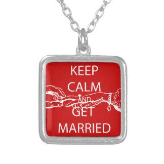 Vintage KEEP CALM  GET MARRIED Custom Jewelry