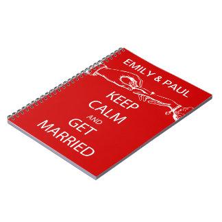 Vintage KEEP CALM  GET MARRIED Notebook