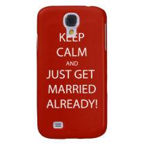 Vintage KEEP CALM  GET MARRIED Samsung S4 Case