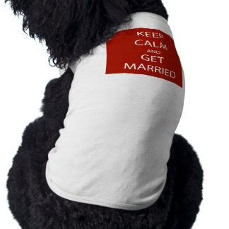 Vintage KEEP CALM  GET MARRIED Shirt