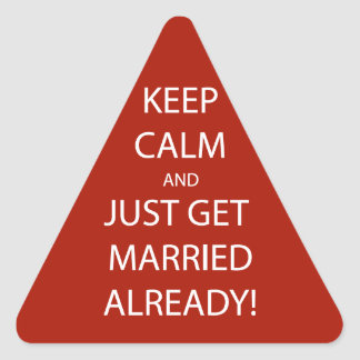 Vintage KEEP CALM  GET MARRIED Triangle Sticker
