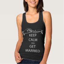 Vintage KEEP CALM  GET MARRIED Tank Top