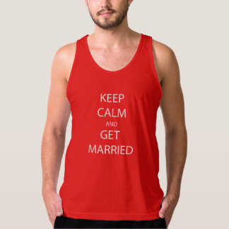Vintage KEEP CALM  GET MARRIED Tank Top