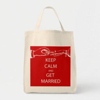 Vintage KEEP CALM  GET MARRIED Tote Bag