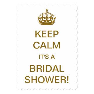 Vintage Keep Calm it's a Bridal Shower! Card