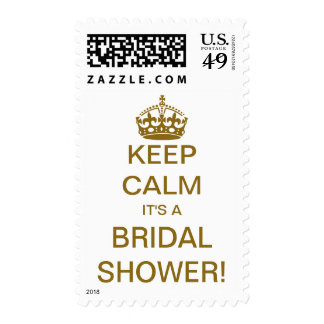 Vintage Keep Calm it's a Bridal Shower! Postage