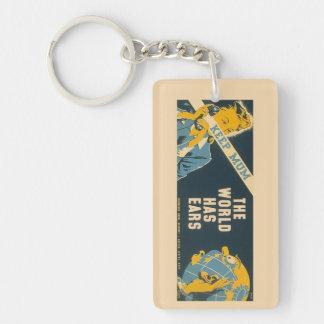 """Vintage """"Keep Mum"""" key chain"""