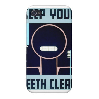Vintage Keep Your Teeth Clean FAP Poster Case For iPhone 4