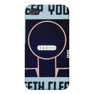 Vintage Keep Your Teeth Clean FAP Poster iPhone 4 Covers