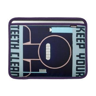 Vintage Keep Your Teeth Clean WPA Poster MacBook Sleeve
