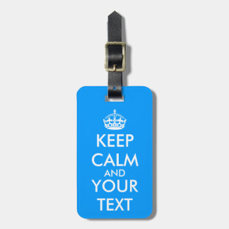 Vintage KeepCalm luggage label | Blue travel tags Tags For Bags