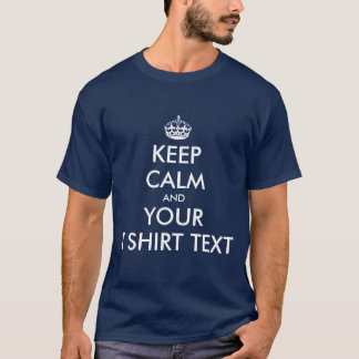 Vintage Keepcalm tee shirts | Customizable text