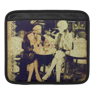 Vintage Keepsake of Outdoor Cafe iPad Sleeves