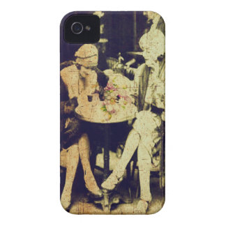 Vintage Keepsake of Outdoor Cafe iPhone 4 Case