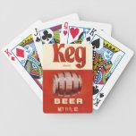 Vintage Keg Beer Playing Cards Bicycle Playing Cards
