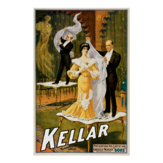 "Vintage Kellar Greatest Wonder ""Gone"" Poster"