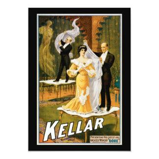 """Vintage Kellar Greatest Wonder """"Gone"""" Poster Card"""