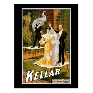 """Vintage Kellar Greatest Wonder """"Gone"""" Poster Postcard"""
