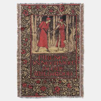 Vintage Kelmscott William Morris Floral Throw Blanket