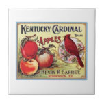 Vintage Kentucky Cardinal Apples, Henry P Barret,  Ceramic Tiles